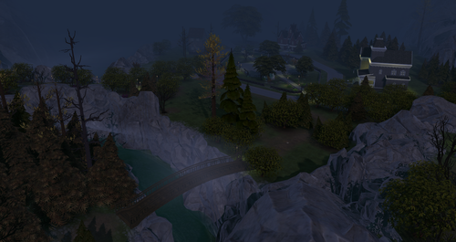 Sims 4 Обои called Forgotten Hollow