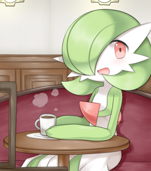 Garde enjoying some coffee.