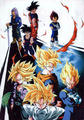 Goku Gohan Vegeta Trunks both saiyan and ssj forms - dragon-ball-z photo