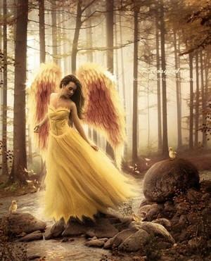 Gorgeous autumn angel