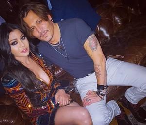 Haifa Wehbe and Johnny Depp