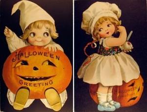 Vintage Halloween Clipart (children)