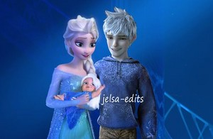 Jack and elsa with their daughter, Jelsa