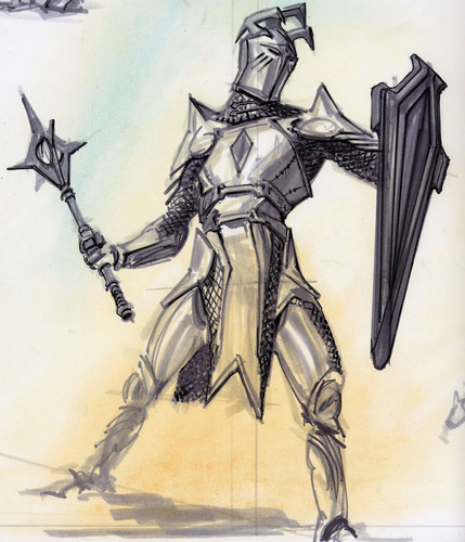 Oblivion (Elder Scrolls IV) fond d'écran called Knights of the Nine Concept Art