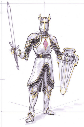 Oblivion (Elder Scrolls IV) fond d'écran titled Knights of the Nine Concept Art