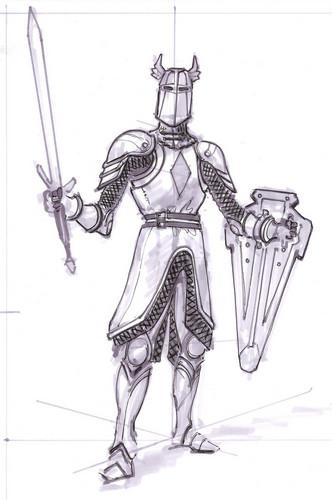 Oblivion (Elder Scrolls IV) fond d'écran entitled Knights of the Nine Concept Art