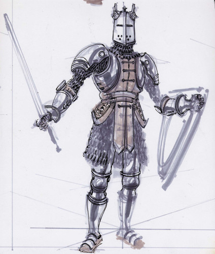 Oblivion (Elder Scrolls IV) fond d'écran entitled Knights of the Nine Concept Art