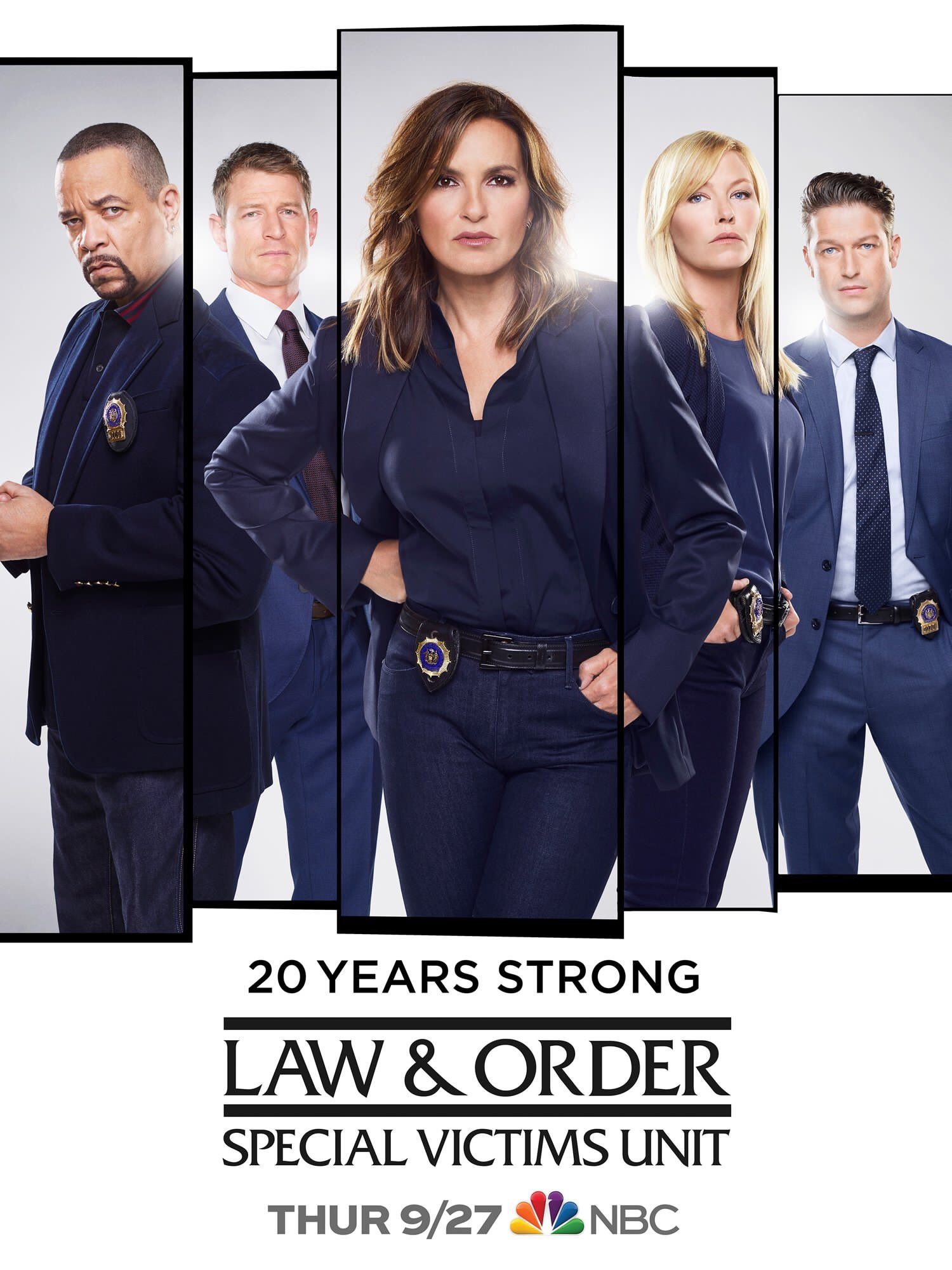 Law And Order Svu Season 20 Poster 20 Years Strong La