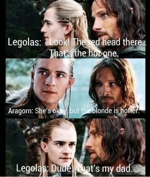 Legolas and Aragorn meme
