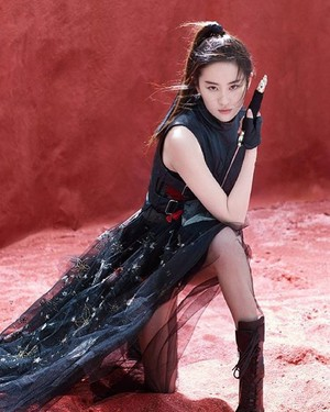 Liu Yifei as Mulan Promotion