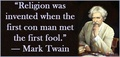 Mark Twain - atheism photo