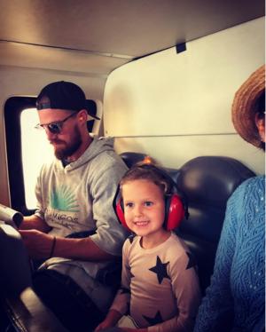 Mavi's first chopper ride