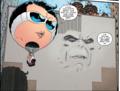 Metamorpho as a wall Plastic Man as a hot air balloon - the-terrifics photo