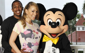 Mickey With Nick canon, cannon And Mariah Carey
