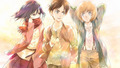 Mikasa, Eren, Armin ~ Attack on Titan