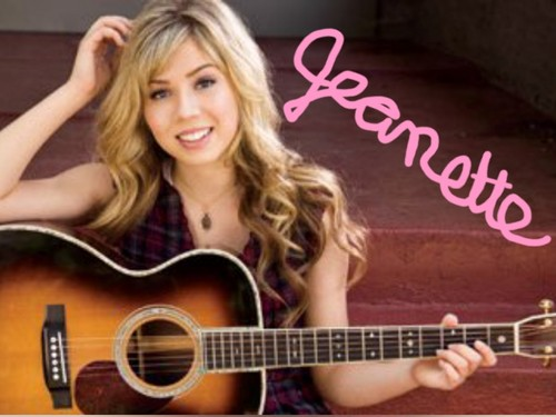 Jennette McCurdy aka sam on iCarly Hintergrund titled Miss Jeanette