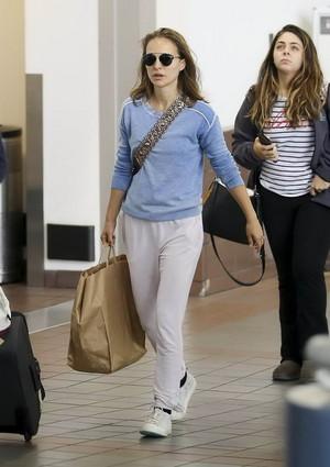 Natalie Portman at LAX airport