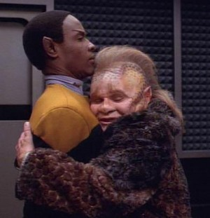 Neelix and Lt.Commander Tuvok