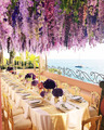 Nice, breezy, relaxing dinner at sea - daydreaming photo