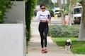 Nina Dobrev With her dog Maverick in Los Angeles - September 5th