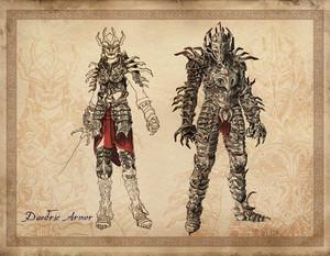 Oblivion Concept Art - Daedric Armor