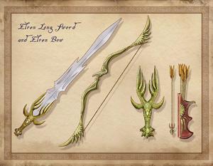 Oblivion Concept Art - Elven Weaponry