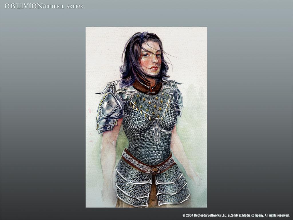 Oblivion Concept Art - Mithril Armor (female)