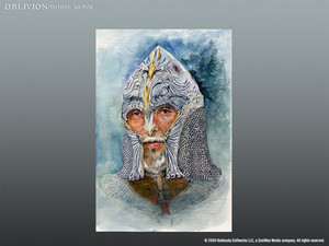 Oblivion Concept Art - Mithril casque