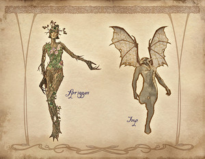 Oblivion Concept Art - Spriggan and Imp