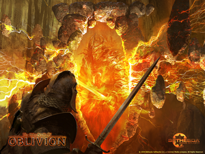 Oblivion kertas dinding - The Gates of Oblivion