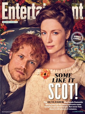 Outlander - Claire and Jamie Fraser at Entertainment Weekly Cover
