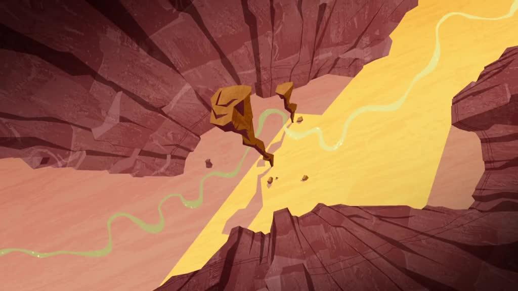 Overhead canyon