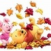 Pooh ours Autumn