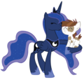 Princess Luna and Pipsqueak - princess-luna photo