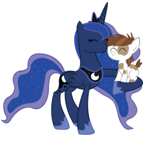 Princess Luna and Pipsqueak