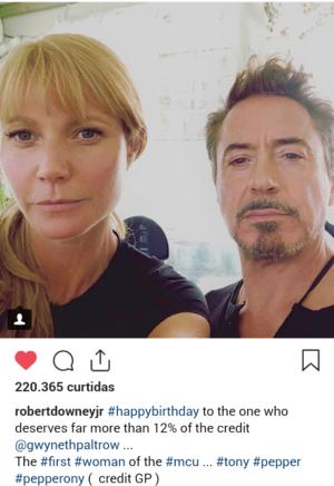 Robert Downey Jr's adorable birthday posts to Gwyneth Paltrow (September 27, 2018)