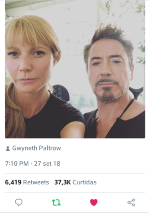 Robert Downey Jr's adorable birthday posts to Gwyneth Paltrow (September 27, 2018)