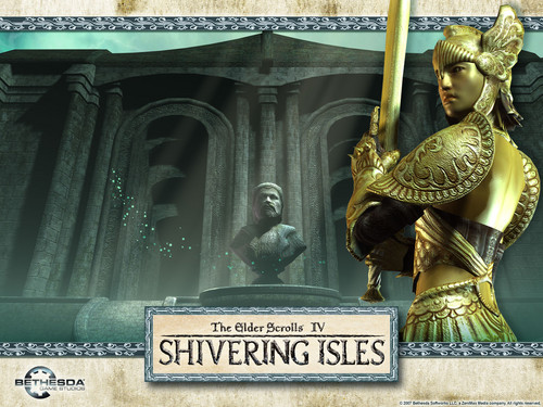 Oblivion (Elder Scrolls IV) fond d'écran entitled Shivering Isles fond d'écran - Golden Saint