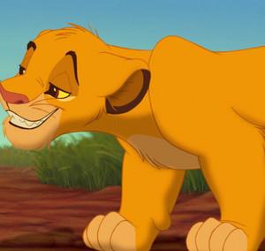 Simba as a cub