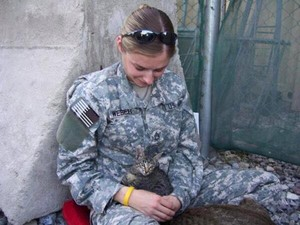 Soldier And Get Kitten