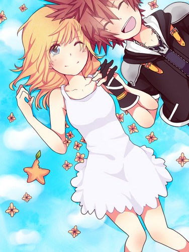Kingdom Hearts Hintergrund entitled Sora and Namine kingdom hearts 32342471 376 500