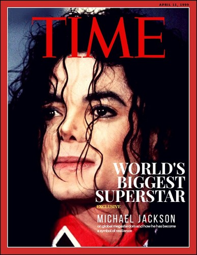 Michael Jackson Hintergrund entitled TIME magazine cover : World's Biggest Superstar