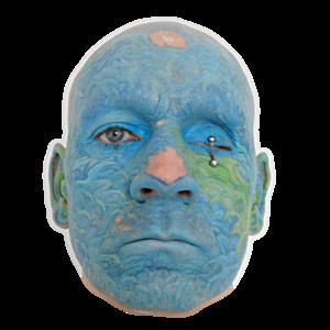 TUERTO - face tattoo - eyelids piercing - 2018