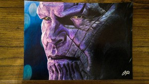 Thanos Colored Pencil Drawing