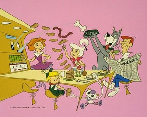 The Jetsons Eating Breakfast