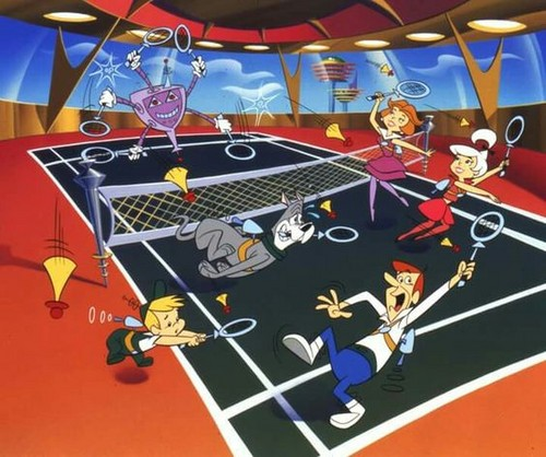 Hanna Barbera 壁纸 entitled The Jetsons Playing 网球