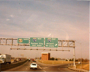 US 67 North at Interstate 70 East exit (1989)