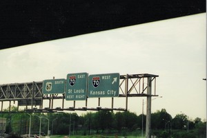 US 67 South at Interstate 70 exits (2001)