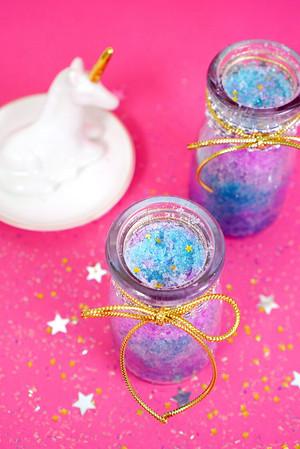 Unicorn Shimmer Sugar Scrub DIY