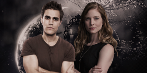 the vampire diaries wallpaper called Valerie Tulle and Stefan Salvatore